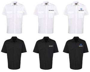 Security Uniform Shirt - In White and Black