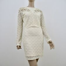 Dress The Population Lace Ivory Long Sleeve Dresses Size Medium