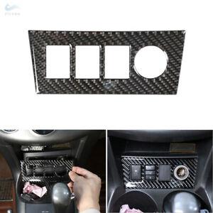 For Toyota RAV4 06-12 Real Carbon Fiber Console Cigarette Lighter Panel Trim