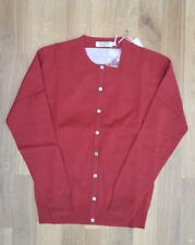 Lochmere 100% Cashmere Cardigan Red XS RRP £170 extra small womens 8-10?