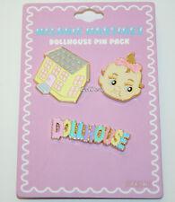 Melanie Martinez Dollhouse Enamel Pin 3 Pack Set Baby Face Text Logo Licensed