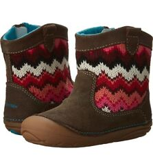NEW Stride Rite Quinn Baby Girl Boots Shoes Toddler Brown 4 W MSRP $45 LAST ONE