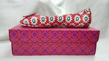 Tory Burch Shoes Nantucket Red Navy Sea  Minnie Travel Ballet Size 9.5 agsbeagle