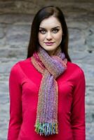 Multi Color Skellig Scarf Cashmere Merino Wool By Mucros Weavers Killarney v56