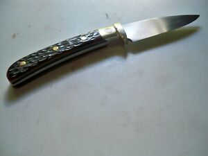Jerry Van Eizenga custom forged drop point hunter new with well made leather she