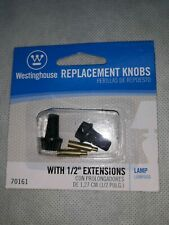 """NEW 2 Pack Westinghouse Lamp Replacement Knobs with 1/2"""" Extensions"""
