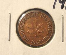 CIRCULATED 1950D 1 PFENNIG WEST GERMAN COIN (50316)