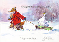 Funny Fox, Wildlife Christmas Cards Pack of 10  by Jonathan Walker C400x
