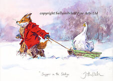 Funny Fox Wildlife Christmas Cards Pack of 10 by Jonathan Walker C400x
