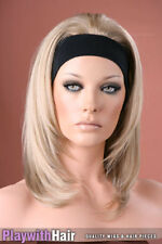 Headband 3/4 Wig Hair Piece Extensions Natural Blonde