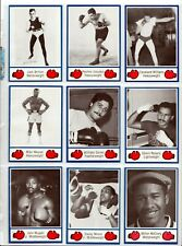 1985 Brown's Boxing Complete Promo Set Rare 1-10
