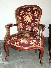 Ensemble de 4 fauteuils Louis Philippe, acajou blond, XIX° à restaurer
