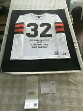 JIM BROWN AUTOGRAPHED SIGNED CLEVELAND BROWNS THROWBACK JERSEY ***LE 32*** UDA