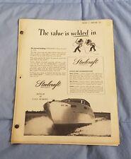 1946 Steelcraft Boats Marine Advertising Sales Catalog Brochure Price List