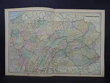 Antique Map 1897, M5#22 State of Pennsylvania