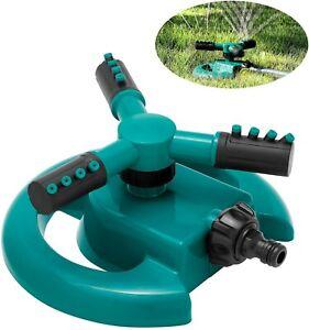 Rasensprenger Bewässerung Große Flächen Wasser Garten Sprinkler 360° 3-Arm Big