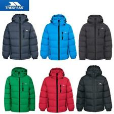Trespass Tuff Boys Padded School Jacket Kids Hooded Quilted Casual Coat
