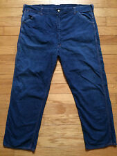 Vintage 1970's Ely Indigo Denim Workwear Painter Jeans Pants Size 44X34