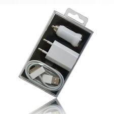 3 in 1 USB Netzteil Ladekabel Ladegerät für iPhone 4 4S 3G 3GS 2G Ladeset Weiss