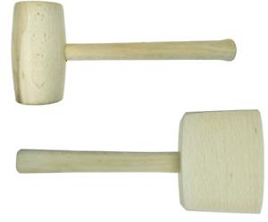 SET Holzhammer rund eckig Schreinerhammer Schreinerklüpfel Klopfholz Hammer CH-M