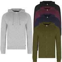 Threadbare Mens Hampton Hoody Zip Up Hooded Sweater Jumper Jacket Cardigan Top