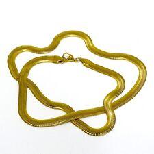 Titan Titanium Halskette Collier Schlangenkette Glieder Gold Damen Herren 55 III
