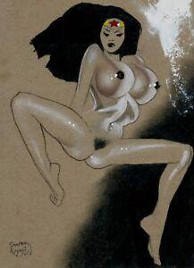 Wonder Woman : Original Art by Shelton Bryant