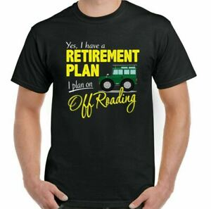 Land Rover Defender T-Shirt 90 110 SVX Off Roading Retirement Plan Mens Funny