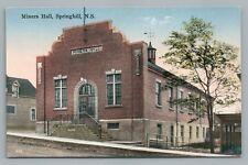 Miners Hall SPRINGHILL Nova Scotia—Rare Antique Postcard 1931