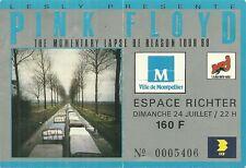 RARE / TICKET DE CONCERT - PINK FLOYD LIVE A MONTPELLIER ( FRANCE ) JUILLET 1988