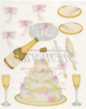 NEW Creative Memories BLOCK STICKER - Wedding Sticker - Cake, Champagne
