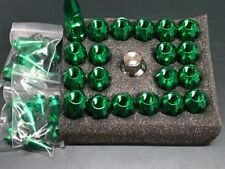 RACING ALUMINUM LOCK LUG NUTS WITH SPIKES 20PCS 12X1.50 WITH KEY (GREEN)