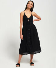Superdry Womens Jayde Tie Front Midi Dress