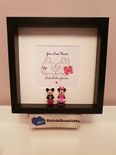 Mickey & Minnie Mouse 3d Frame minifigure love you are mine and i am yours