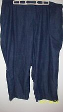 Koret 22W Womans Capris City Blues  Navy Denim Little Side Pocket  on right lowe