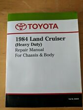 Toyota 1984 Land Cruiser Repair Manual For Chassis & Body  #36262E NOT PDF