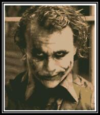 Heath Ledger The Joker - Cross Stitch Chart/Pattern/Design/XStitch