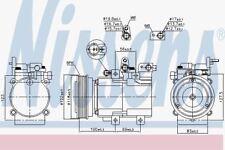 Nissens 890130 AC Compressor fit HYUNDAI SANTA-FE   01-