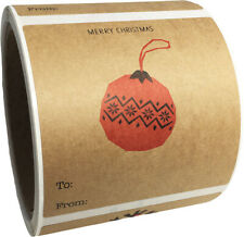 """Natural Kraft Minimalist Christmas Holiday Gift Tags 