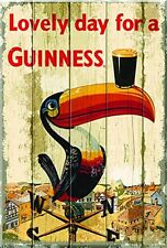 Guinness Toucan Weather Vane  chunky wooden sign 300mm x 200mm x 10mm (sg)