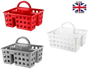 Plastic Kitchen Storage Cleaning Carry Tray Caddy Tote Organiser with Handle New
