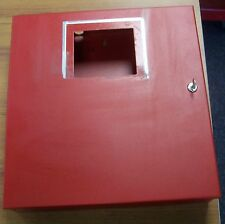 """Red Steel 16"""" X 16 3/4"""" X 3 13/16"""" Junction Box Hinged Cover Key Locked Used 143"""