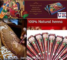3 x migliore qualità naturale henné tatuaggio CONI più scure e più conveniente su ebay!! UK