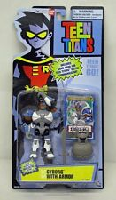 Teen Titans Animated Cyborg with Armor 3.5 inch BanDai Blue Card NIP 2005 S143-9