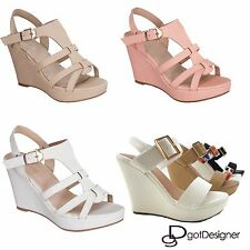 Women's Summer Sandals High Wedge Heel Party Rhinestone Platform Shoes Slippers