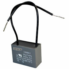 HQRP Motor Capacitor for Hampton Bay Ceiling Fan 20uF 2-Wire CBB61