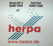 Rare HERPA DC-3 Demo Team T Shirt MODEL AIRCRAFT Airplane PLANE Wings TEE Vtg