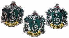 """Harry Potter Slytherin groß 4"""" hoch bestickt Aufbügelflicken Set 3 Patches"""