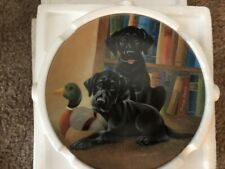 Knowles Literary Labs Collector Plate - Lynn Katz - Dogs Life includes Coa