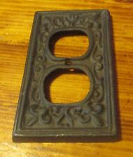 Cast Iron Electrical Plug Outlet Socket Switch Plate Cover Single Old World